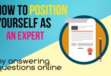 how to position yourself as an expert by answering questions online